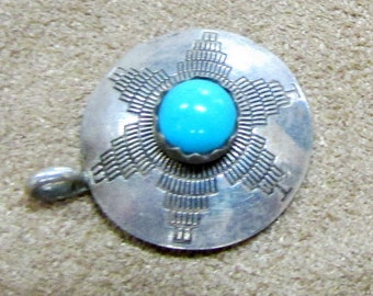 Sterling Siver and Turquoise Pendant