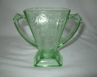Green Uranium Glass Etsy