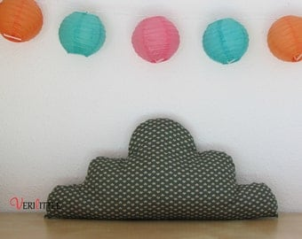 Cloud pad hearts green and Beige