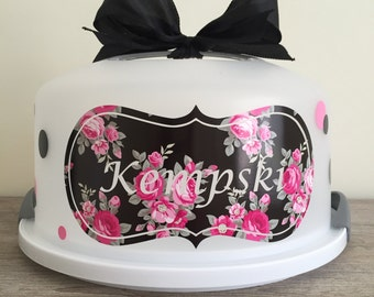 Floral Personalized Cake Carrier
