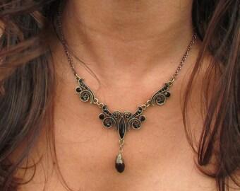 Timeless Vintage style statement necklace.