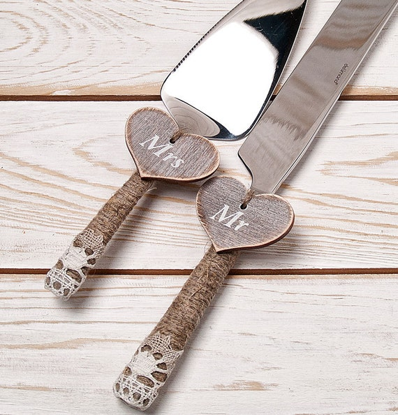 cake serving set rustic wedding cake cutting set wedding cake knife set wedding cake servers. Black Bedroom Furniture Sets. Home Design Ideas