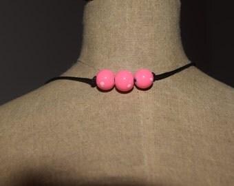 Chocker Necklace- Pink