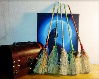 Small magick witches broom besom for cleansing decoration gift ritual altar tool witch wiccan pagan witchcraft with and without pentacle