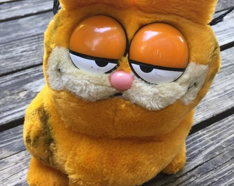 Vintage Garfield Plush Toy, Medium Size, 1981