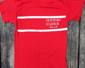 Vintage Tee, Newport Harbor Class of 1983, Size Small