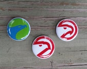 Atlanta Hawks 1-inch pinback button set (3)