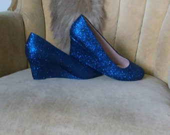 custom made to order.One color wedge high heels.