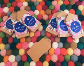 50 Kraft Tags, Gift Tags, Hang Tags, Product Tags - 4cm by 8cm