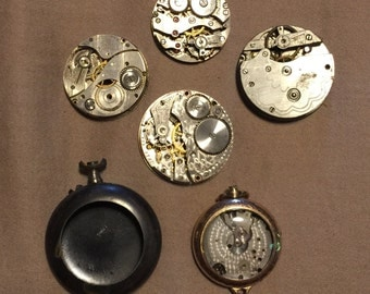 Vintage/Antique LOT Of Watch Parts For Repair Or Repurpose