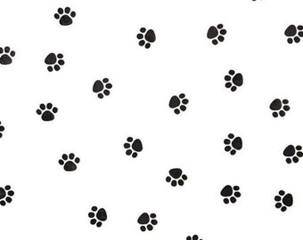 """Small Paw Print on White Tissue Paper # 333  / Gift Wrap - Dog / Cat / Pet  ... 10 large sheets - - 20"""" x 30"""""""