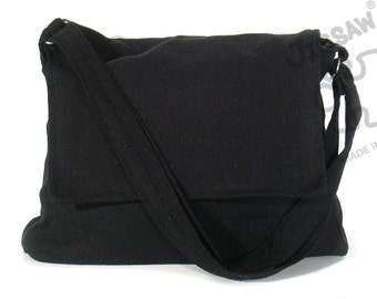 Messenger bag Black bag Crossbody bag Sling purse Shoulder Bag  laptop bag Tote