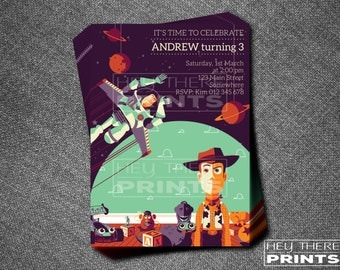 Toy Story - Woody and Buzz Lightyear Invitations - Space Ranger - Woody - Cowboy