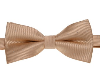 Champagne Mens Bow Tie.Champagne Bowtie.Wedding Bowtie.Gift for Him.Bowtie for Men