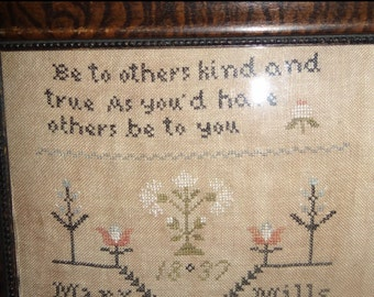 Be Kind Primitive Cross Stitch Pattern