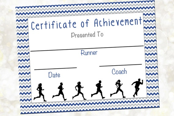 Cross country certificate jog a thon award running for Running certificates templates free