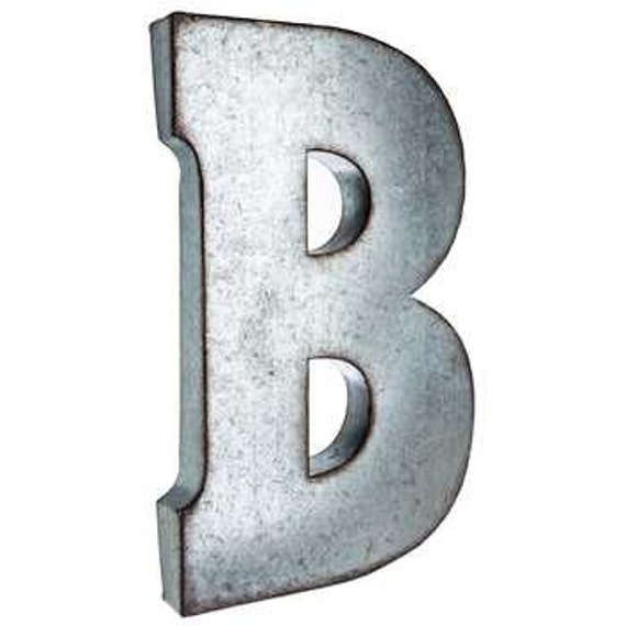 Custom finished colors galvanized metal letter large for Metal marquee letters hobby lobby