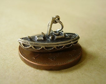Sterling Silver Lifeboat Charm