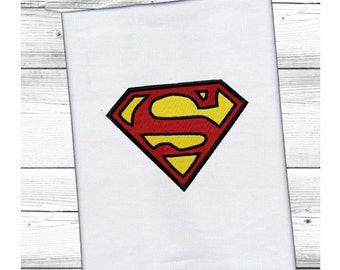Superman Logo...Instant Download...4 sizes...Pattern Fill Machine Embroidery DESIGN NO. 398