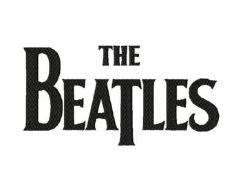 THE BEATLES Logo 3 sizes Solid Fill Machine Embroidery DESIGN No.. 570