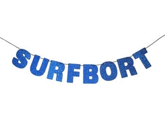 SURFBORT Glitter Banner Wall Decoration Garland - Sparkly Blue - Party Decorations - More colors available