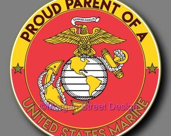 US Marine Parent Die Cut Vinyl Decal Sticker