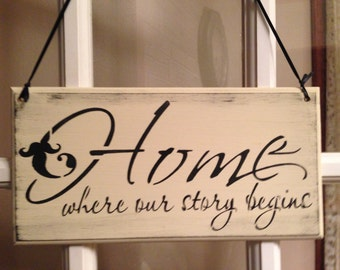 Home where our story begins,beginning our life together,new home,first home,photo props,new place together,new love,first house,love story