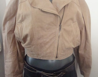 Vintage 80's Crop Leather Jacket