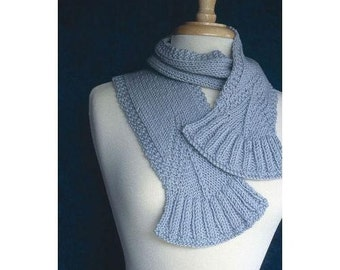 Fanned Rib Scarf Knitting Pattern Download (803058 )