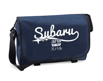 Subaru Japan Men's Messenger Bag for Subaru Fan Driver - great gift for your boyfriend and father