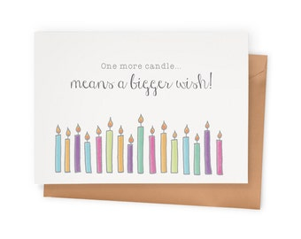 "Birthday Card: ""One More Candle…"""