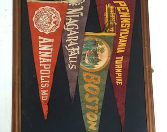 SALE- Vintage Collegic Pennants