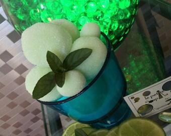 Lime Mint Julep Foaming Sugar Scrub Orbs