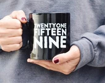 Fitness Jumbo Coffee Mug: Black, 20oz