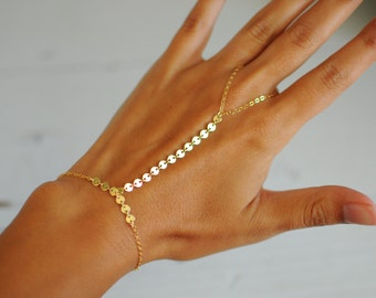 Gold Shimmer Hand Chain