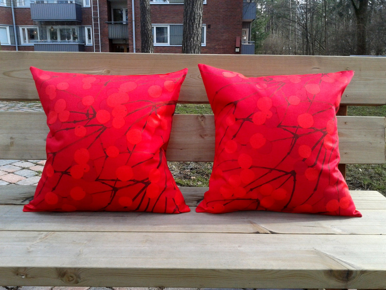 Scandinavian Pillow Cases : Pillow covers made from Marimekko fabric Lumimarja