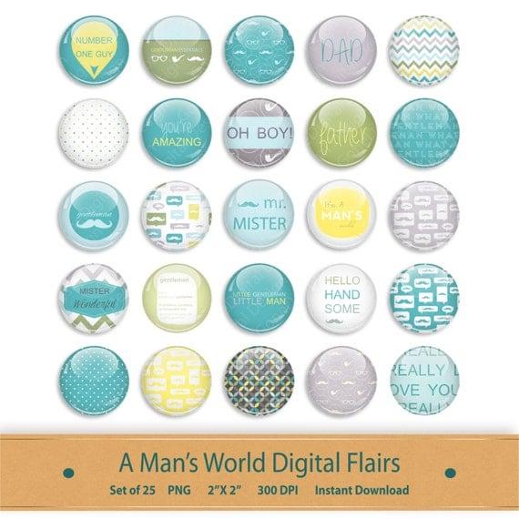 Scrapbook Flairs Brads Kit Graphics Clipart Printable ...