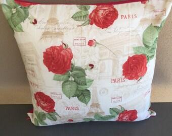 Paris Flowers & Arch Cushion Cover