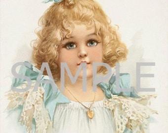 Digital Download File *Vintage Girl * 12-141
