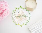 Premade logo, DIY Logo, Logo, Instant Download Logo, Business Logo, Branding, Stamp, Floral, Photographer Logo, Feminine Logo, Watercolor