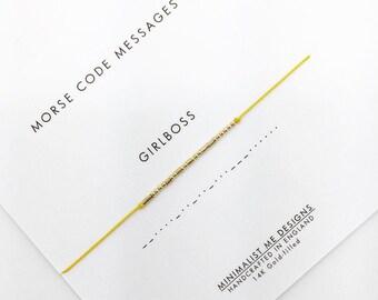 Morse code GIRLBOSS bracelet