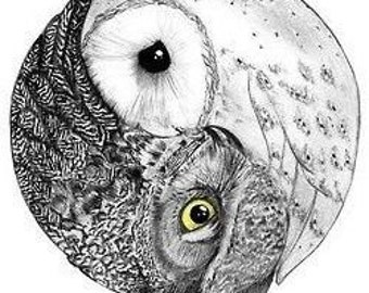 Owls love - Temporary tattoo