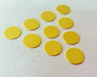 150 Pcs Raw Brass 10 mm Stamping Blank Disc ( No Hole -Thickness Of 0.45 mm ) 25 Gauge