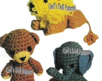 Vintage Pattern for 3 Darling Little Crocheted Animals!