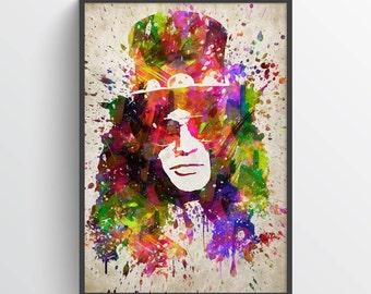 Slash, Guns N' Roses Poster, Slash Print, Slash Art, Guns N' Roses Print, Guns N' Roses Poster, Home Decor, Gift Idea