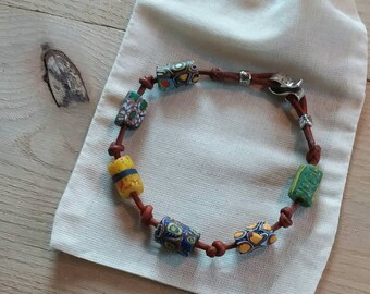 MyQuest African Trade Bead Bracelet