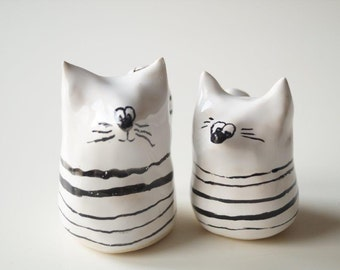 Large Wedding Cake Topper, Cat Cake Topper, Wedding Cake Decor, Cat Couple, Handpainted Cake Topper, Ceramics and Pottery