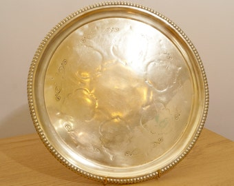 D 36 cm Antique Serving Tray || Solid Brass Tray / plate