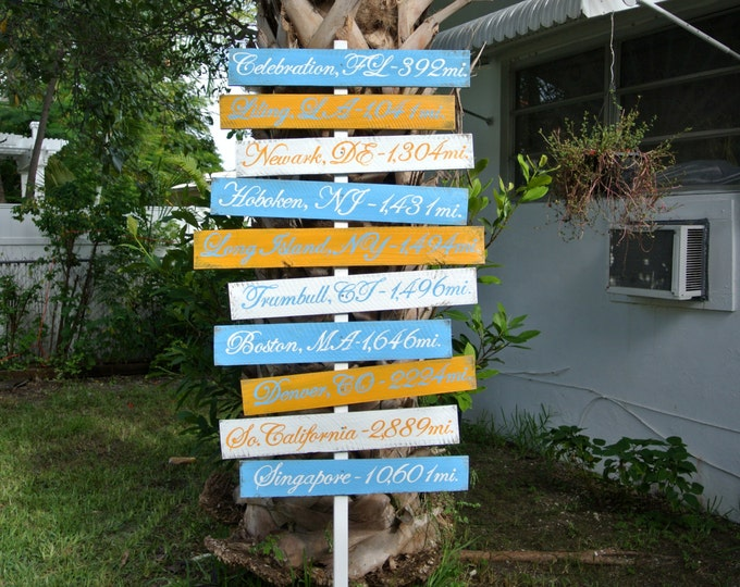 Wood Arrow Directional Sign, Rustic Beach House Decor, Directional Yard Sign, Garden decoration signpost