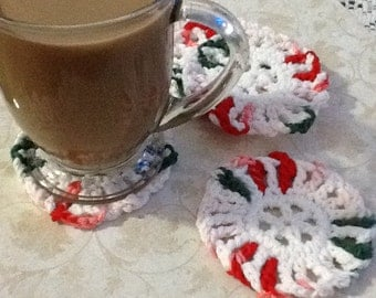 Set of 4! Peppermint Coaster